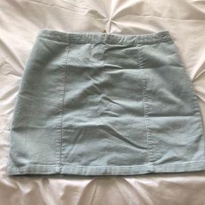 NWT Forever21 Corduroy Light Blue Mini Skirt